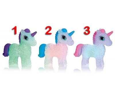 13cm Colour Changing Unicorn choose Pink,Blue or Purple