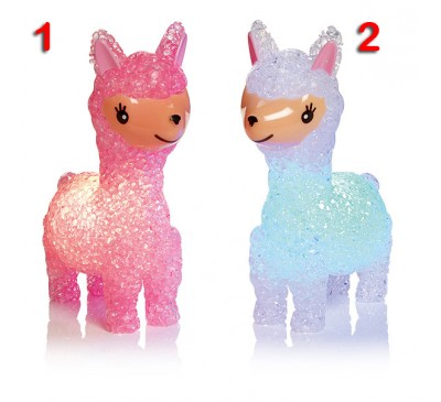 14.5cm Llama with Colour Changing LEDs - Pink and White to choose from