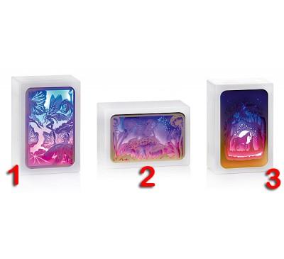 16x11cm Diorama with Fairytale Scene - Fairy-Unicorn - 3 Designs