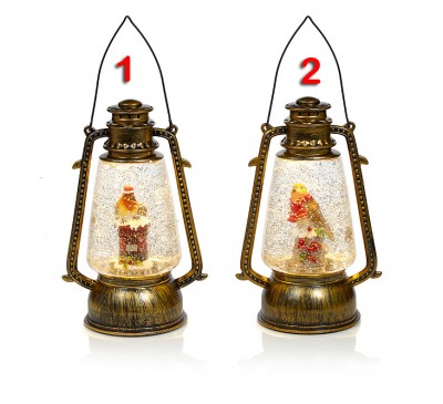 24cm Robin Water Spinner Lantern 2 Designs