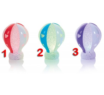 11.5cm Hot Air Balloon EVA Light Colour Changing