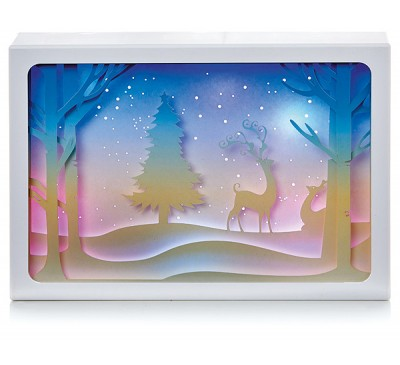29x21cm Diorama Reindeer Scene
