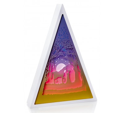 30cm Triangle Diorama Unicorn Scene