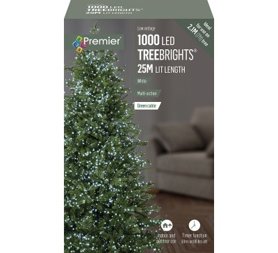 1000 Multi Action LED TreeBrights with Timer and White Lights