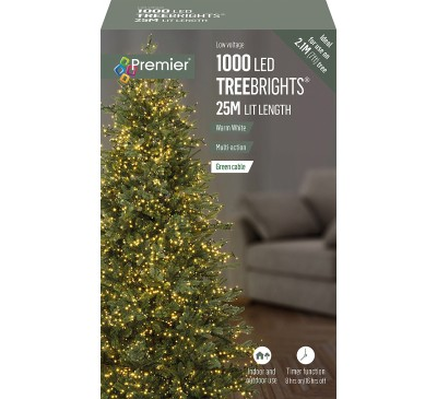 1000 Multi Action Warm White Led TreeBrights Timr