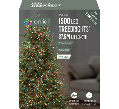 1500 Multi Action Multi Colour  Led TreeBrights with Timer