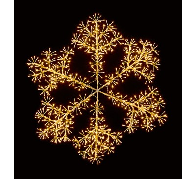 1.2M Gold Starburst Snowflake with 960 Warm White LED's
