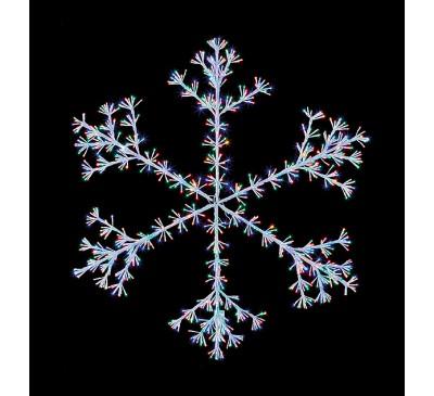 1.2M White Starburst Snowflake with 960 Multi Coloured Vintage LEDs
