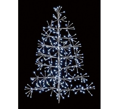 90cm Silver Tree Starburst with 296 White LEDs