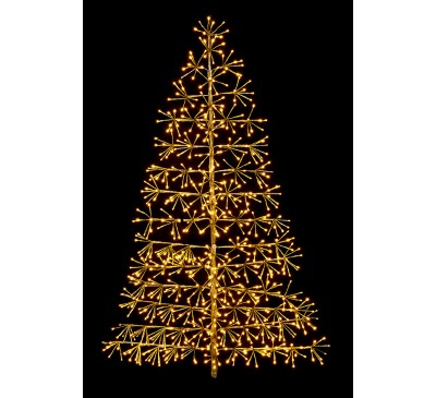 1.2M Gold Tree Starburst with 496 Warm White LED's