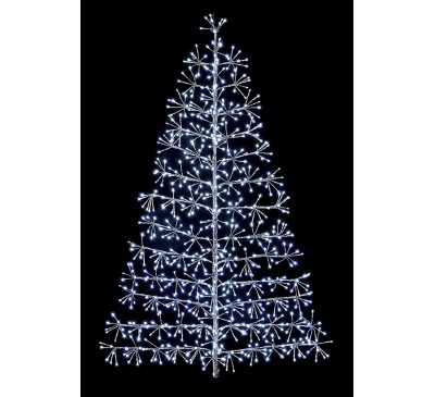 1.2M Silver Tree Starburst with 496 White LEDs