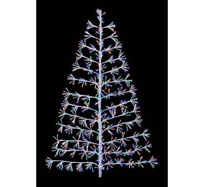 1.2M White Tree Starburst with 496 Multi Coloured LED's