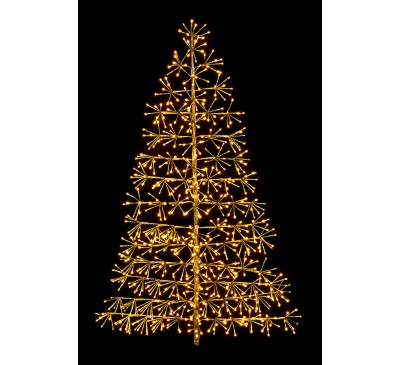1.5M Gold Tree Starburst with 74 Warm White LED's