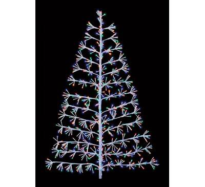 1.5M White Tree Starburst with 744 Multi Coloured LED's