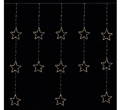 1.2x1.4M Star Pin Wire Flashing Curtain with 312 Warm White LED's