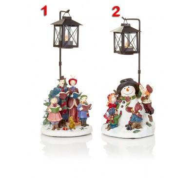 30cm Christmas Scene T-Light Holder 2  Designs