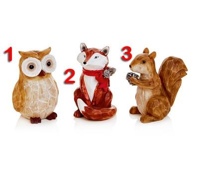 11cm Fox, Owl or Squirrel Sitting decoration