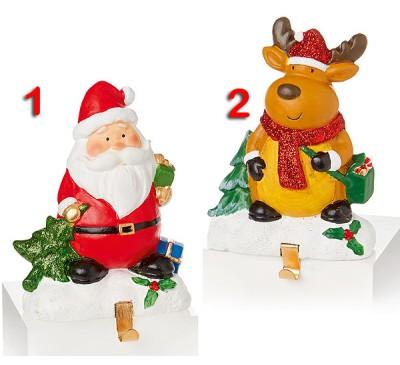 14x10cm Santa or Reindeer decoration