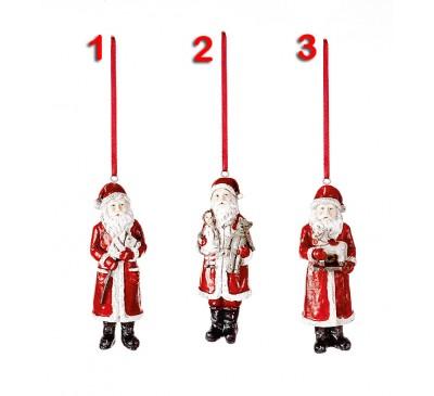 11cm Santa Decorations 3 Assorted designs