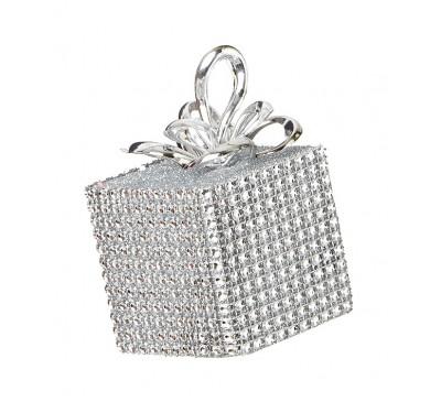 Silver Diamante Square Parcel