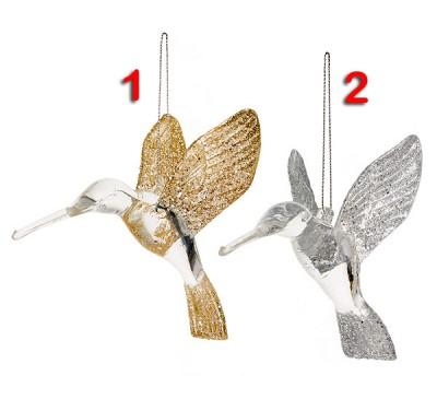 Clear Acrylic Hummingbird 2 Designs