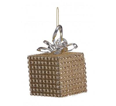 Gold Diamante Square Parcel