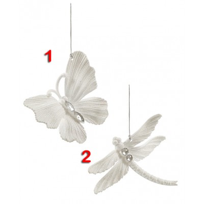 10cm White Butterfly or Dragonfly