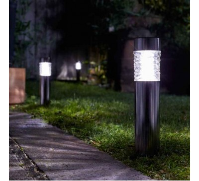 Wave Bollard - Stainless Steel Solar Light 10L
