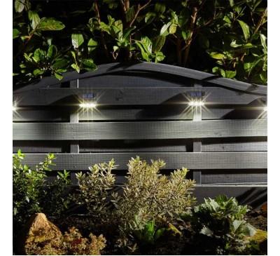 Premier Solar Wall, Fence & Post Light 4 pack 10L