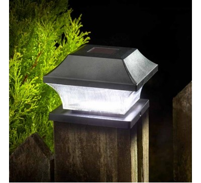 Solar Post Light Black 3L