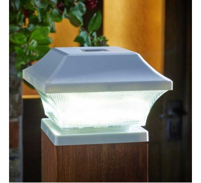 Solar Post Light White 3L