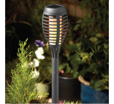 Party Flaming Solar Torch - Slate