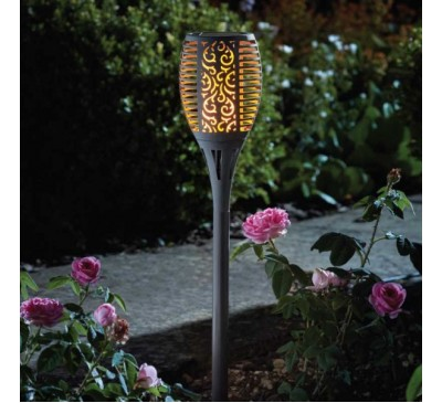 Flaming Solar Torch Open Stock - Slate