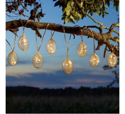 Solar SpiraLight String Lights - Set of 10