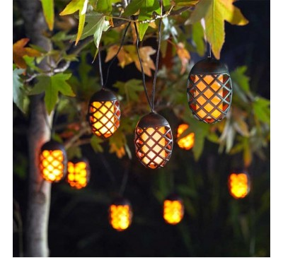 Cool Flame Solar String Lights - Set of 10