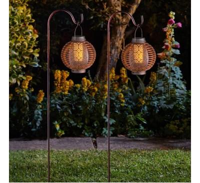 Forli Flaming Solar Lantern 2 pack