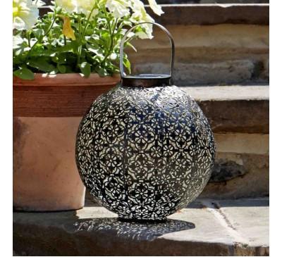 Damasque Solar Lantern- Bronze