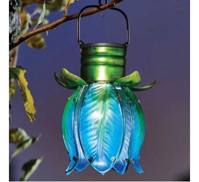 Solar Tulip Pendant - Blue