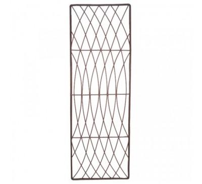 Rot-Proof Faux Willow Trellis - Rectangular Natural 1.2 x 0.45m