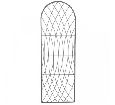 Rot-Proof Faux Willow Trellis - Round Slate 1.8 x 0.6m