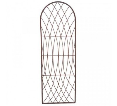 Rot-Proof Faux Willow Trellis - Round Natural 1.8 x 0.6m