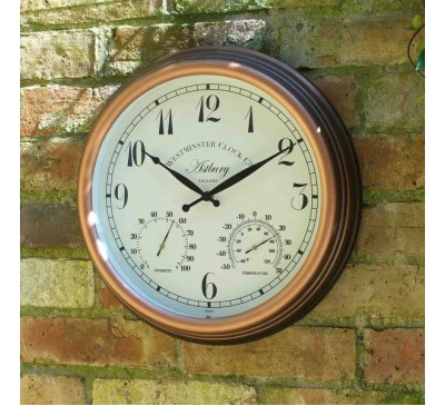 Astbury Clock & Thermometer 15 inch