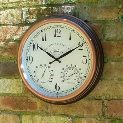 Astbury Clock & Thermometer 15 inch