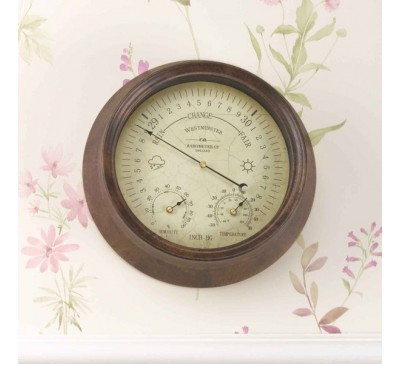 Westminster Barometer & Thermometer 8 inch