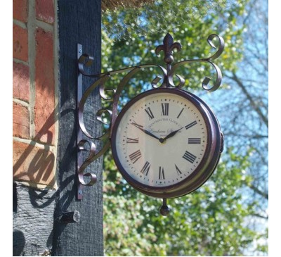 Marylebone Station Clock & Thermometer 8 inch