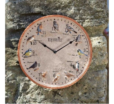 Birdberry Wall Clock 12 inch