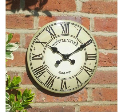 Westminster Tower Clock - Cream 12 inch