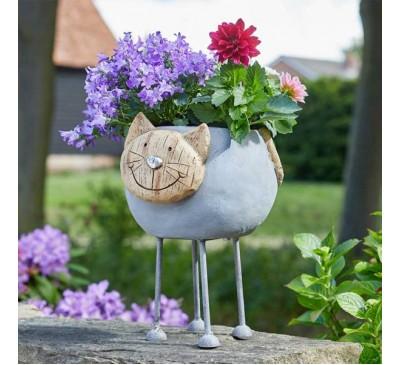 Woodstone Cat Planter