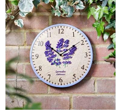 Lavender Wall Clock 12 inch