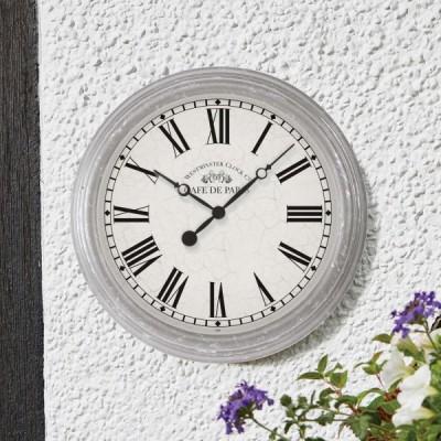 Biarritz White Clock 15 inch